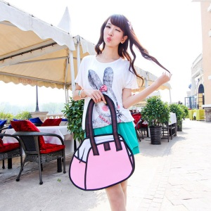 Free-shipping-Cheap-3D-2D-Comic-Cartoon-Bags-Canvas-Bag-Ladies-Handbags-Shoulder-Bags-Totes